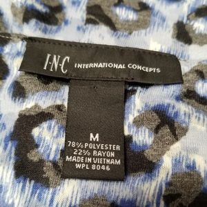 INC International Concepts Dresses - INC International Concepts Blue Leopard Mini Dress